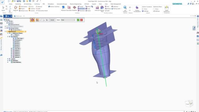 projektowanie protezy w solidedge Shining 3D Edition 3