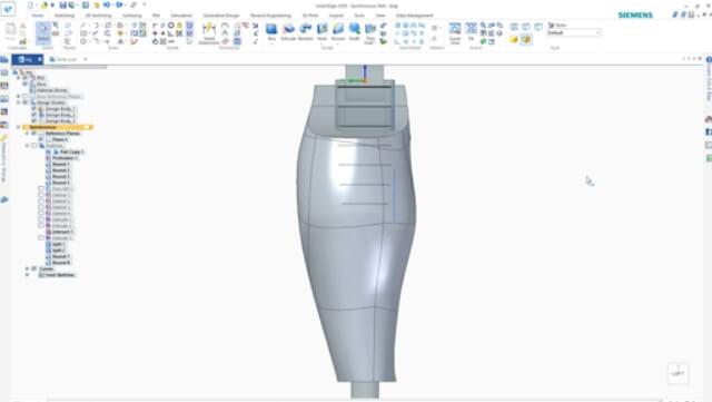 projektowanie protezy w solidedge Shining 3D Edition 4
