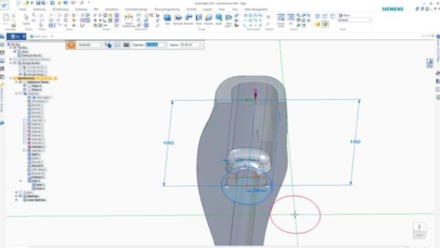projektowanie protezy w solidedge Shining 3D Edition 5