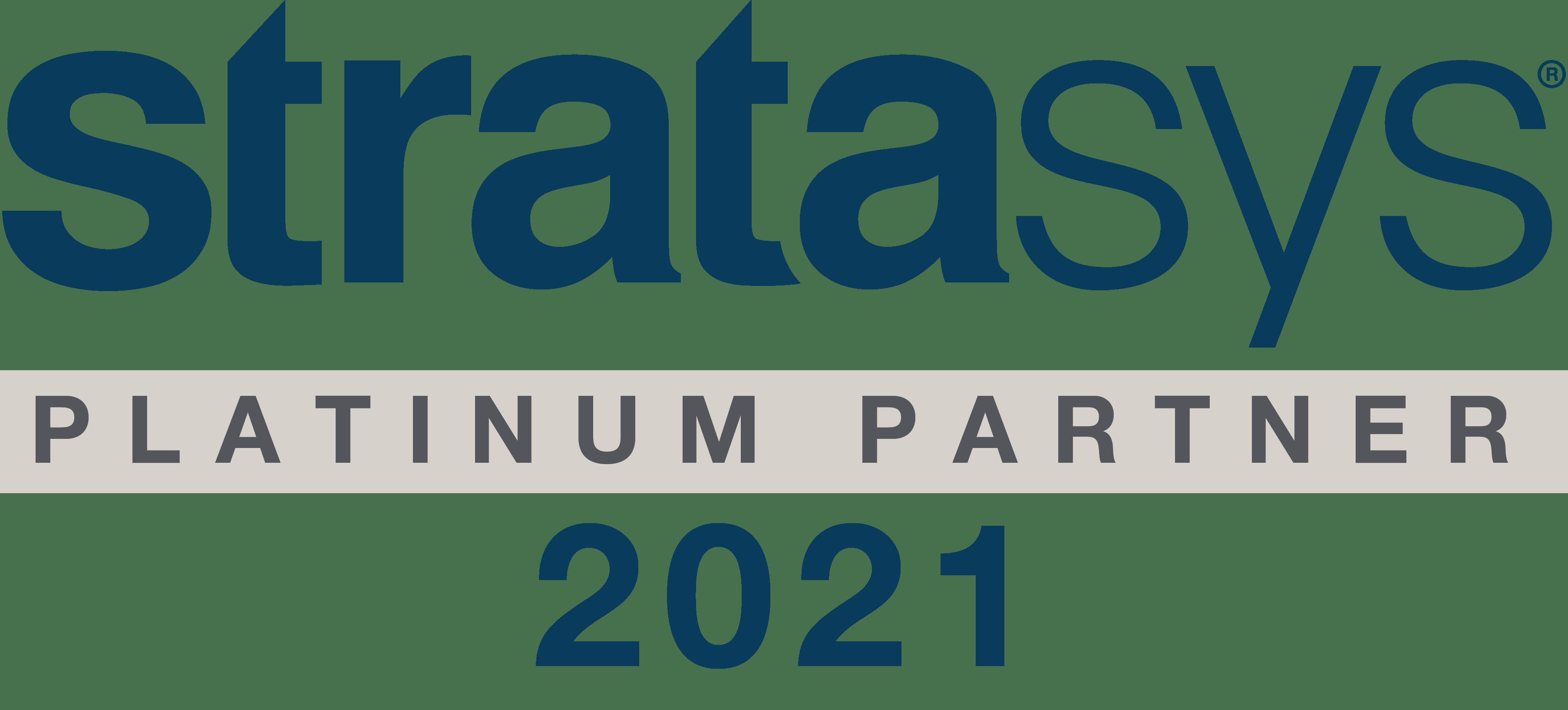 Platinum Partner - Stratasys Logo 2021 PNG