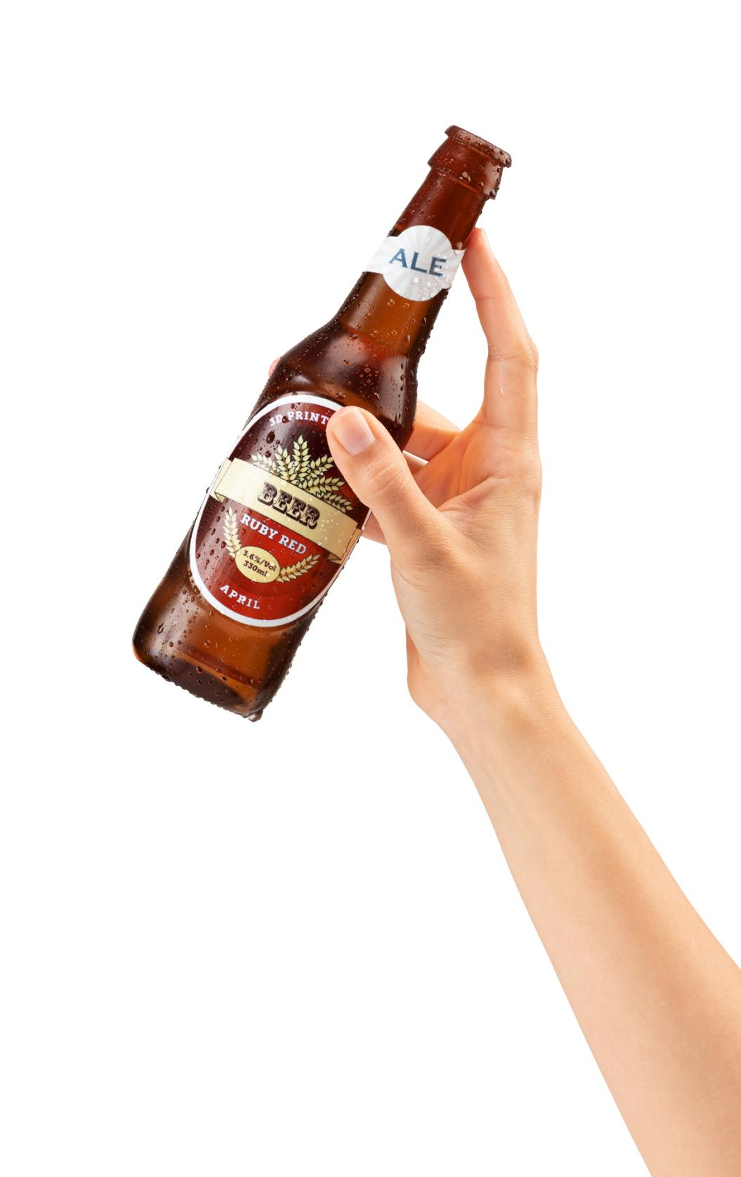 Brown Beer Bottle Hand VeroUltra Small