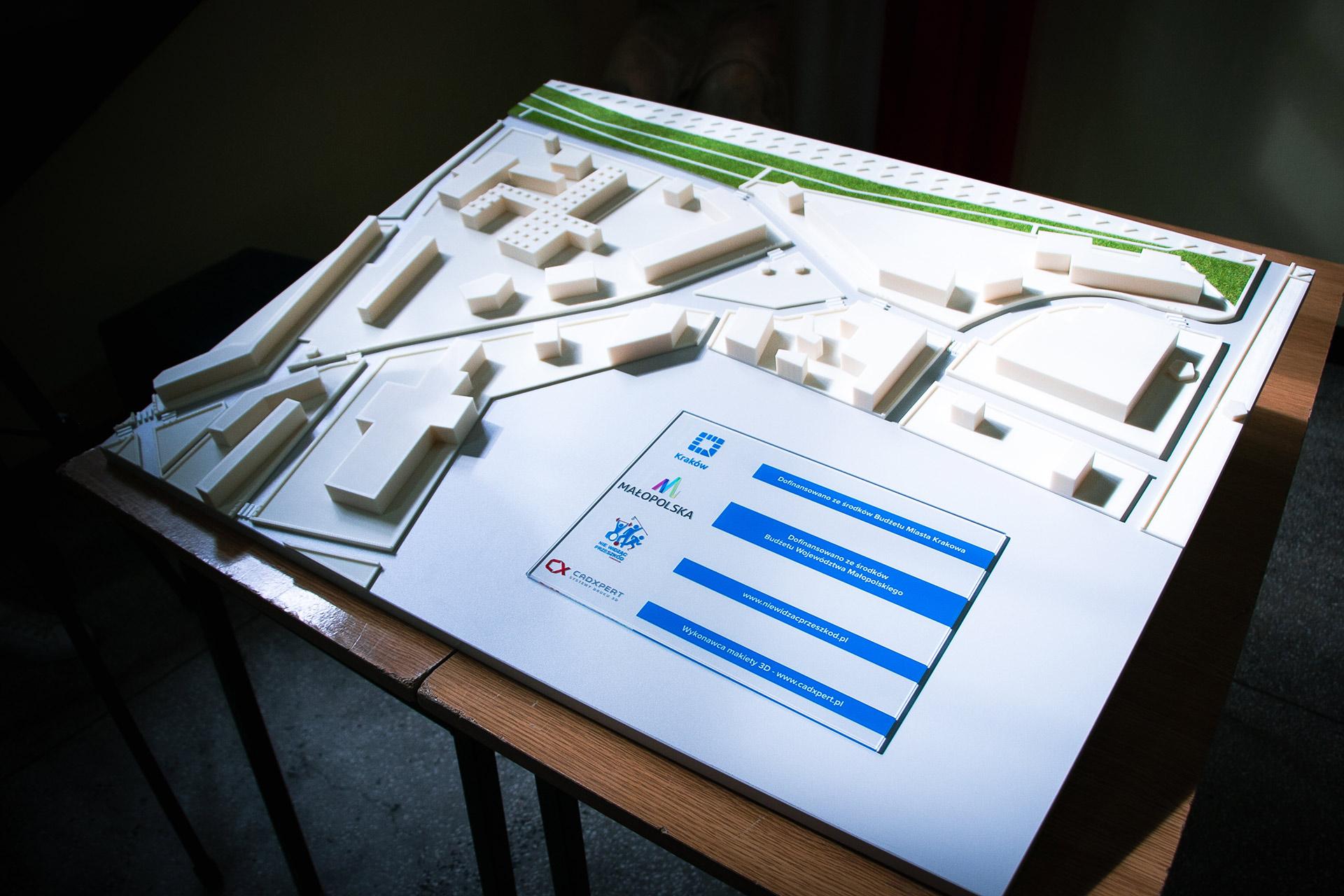 makieta dla niewidomych druk 3D